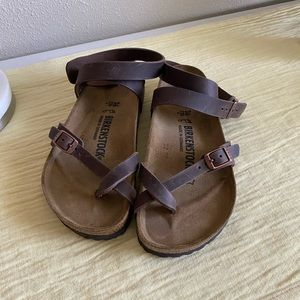Brown Ankle Strap Birkenstock's